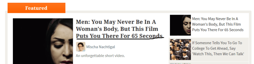 Here's an Example of Upworthy.com's style of Headlines, always tempts you to read the content
