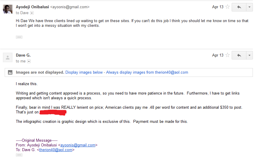 Discussion followed via email 10
