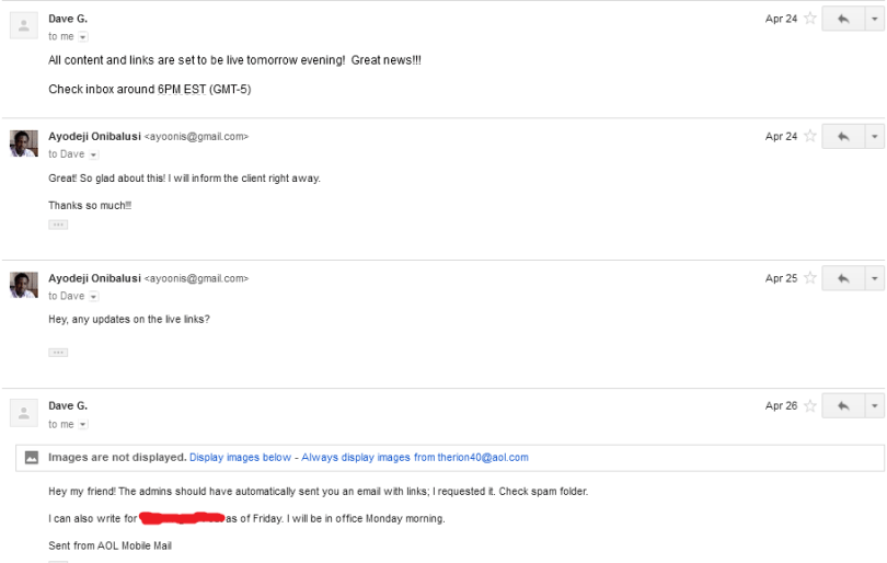 Discussion followed via email 16