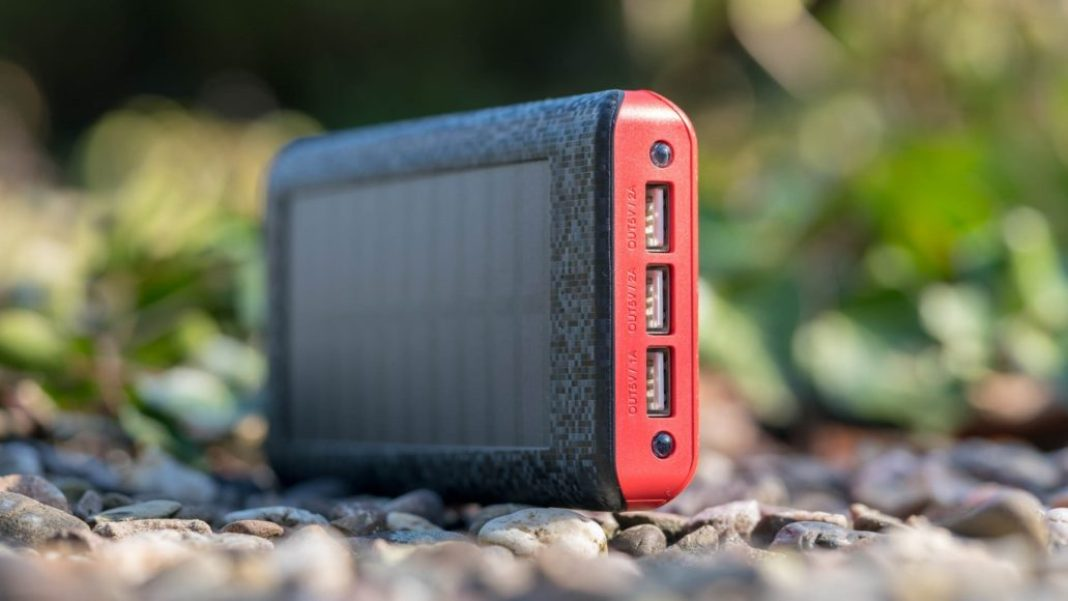 Best solar charger on the go ADDTOP 25000mAh Solar Charger