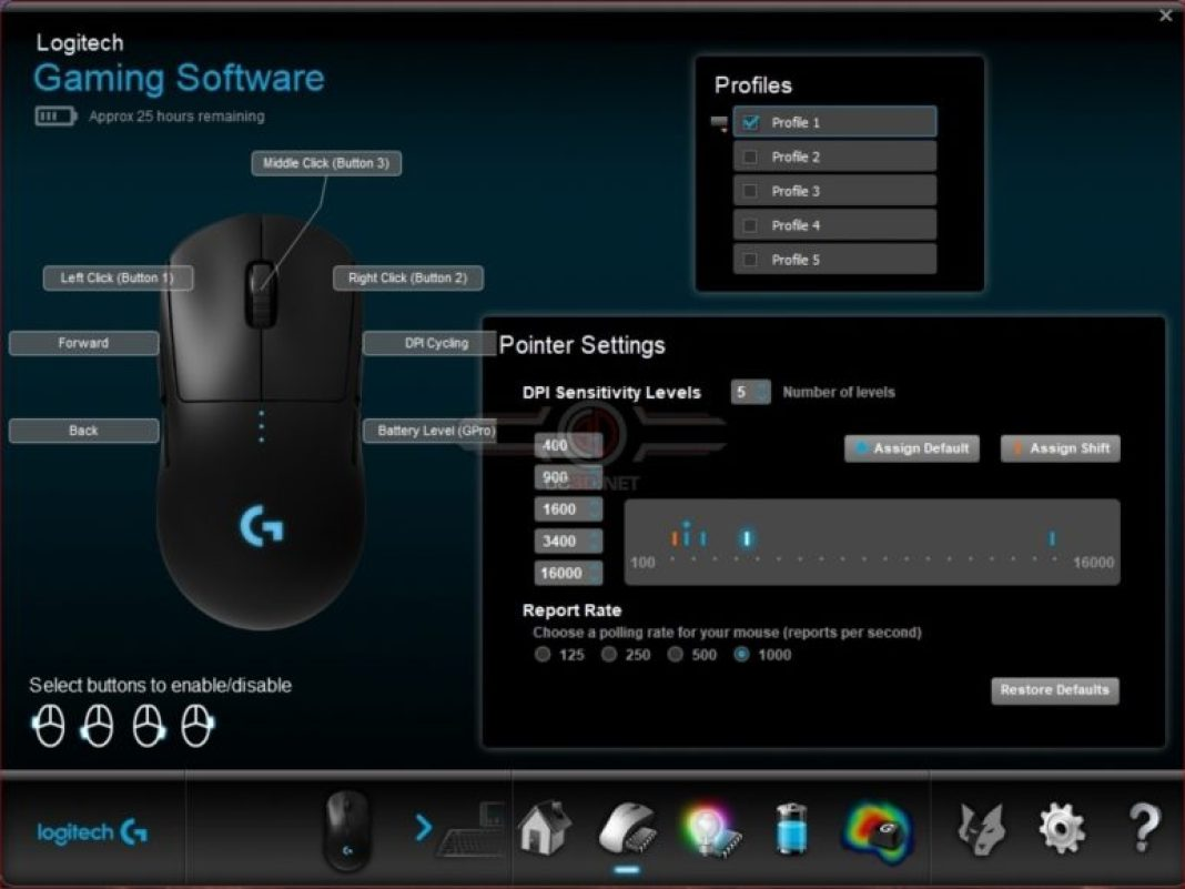 Logitech G Pro Wireless – The software suite