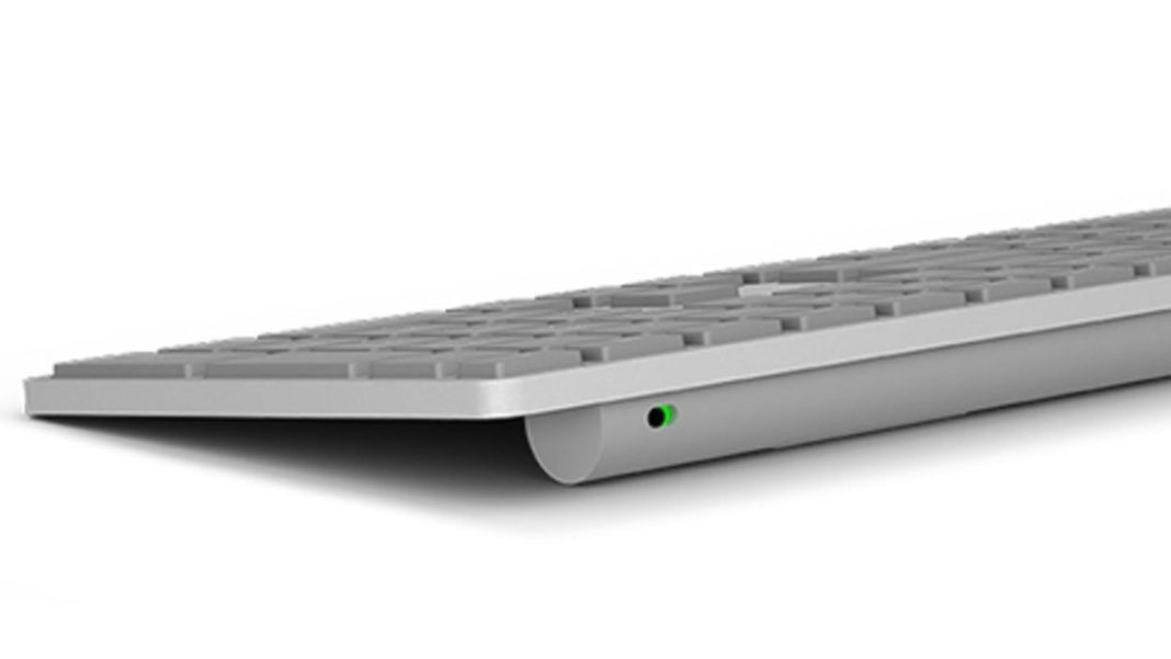 Microsoft Modern Keyboard with Fingerprint ID – Limited ergonomics