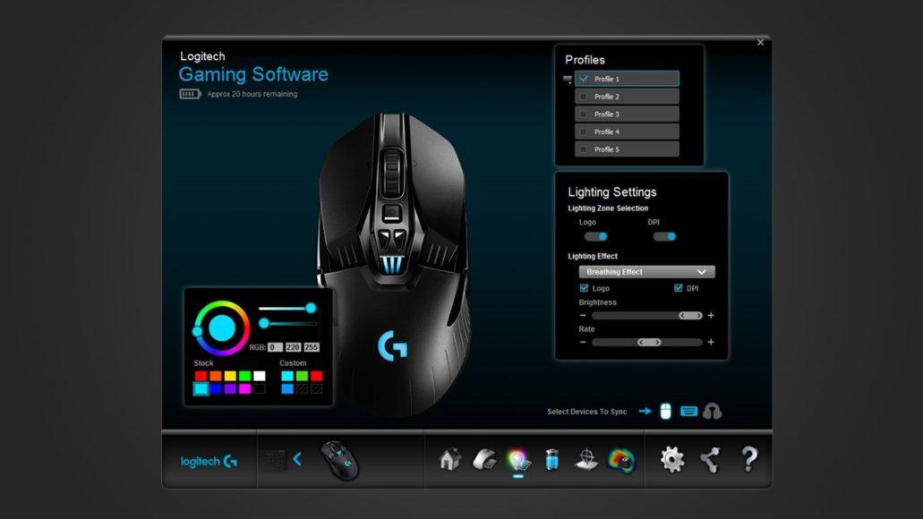 Logitech G903 Lightspeed – Logitech Gaming Software
