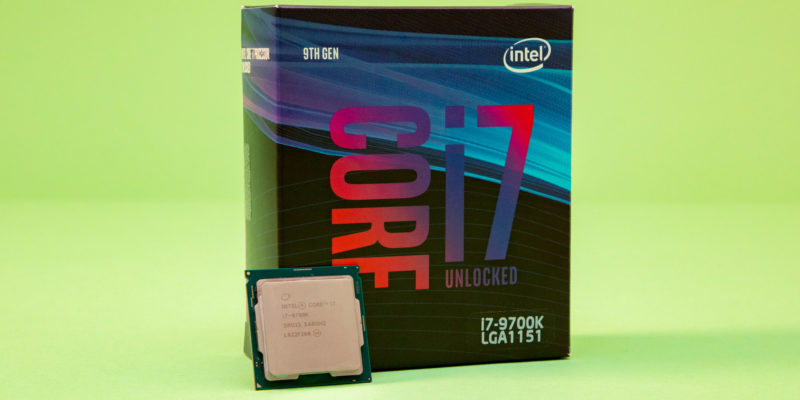 Intel Core i7-9700K: gaming CPU at a lower price