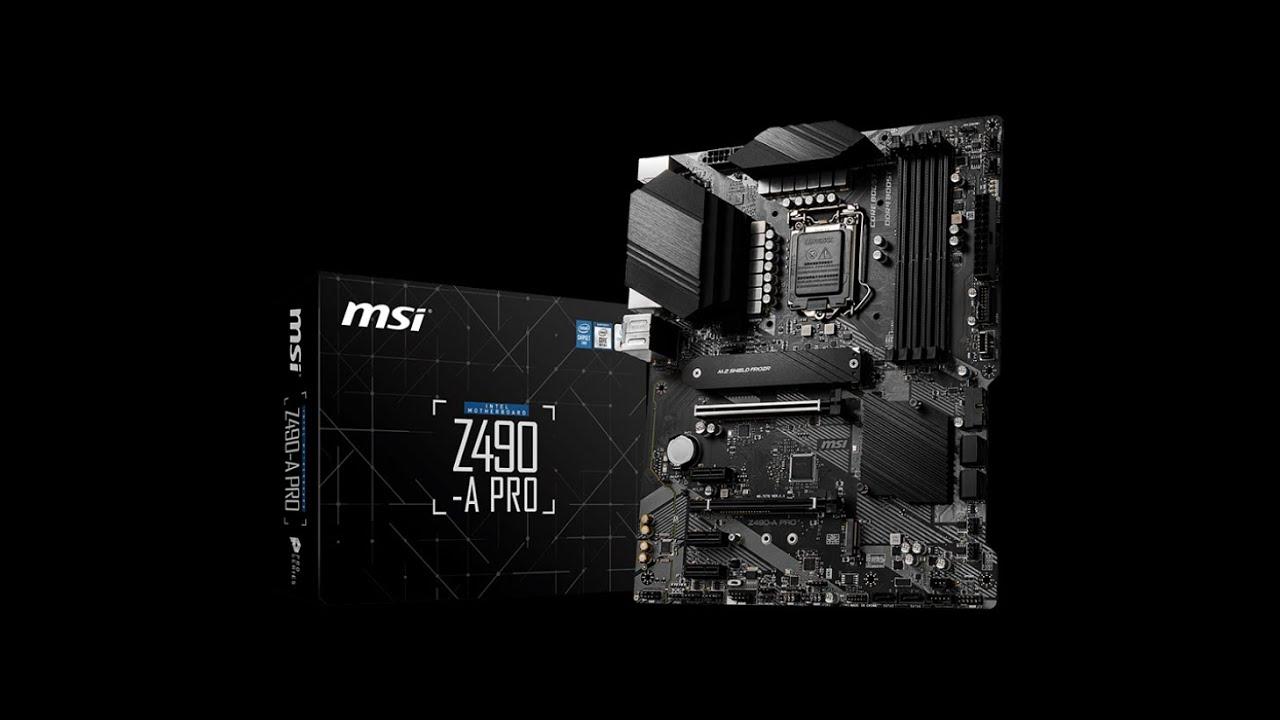 MSI Z490-A PRO scheda madre Intel dal miglior valore