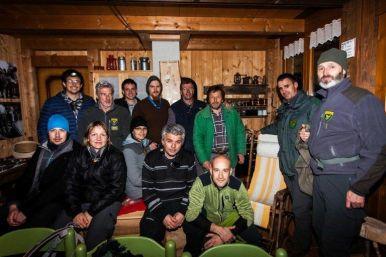 aprile 2018, il gruppo di cattura dell'orso Francesco