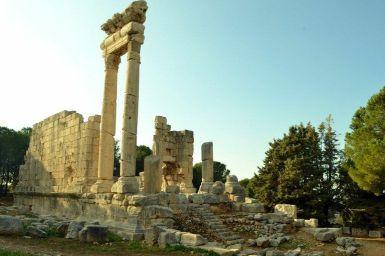 Uno dei due templi romani di Qasr Naous ad Ain Akreen