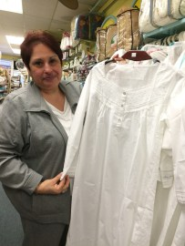 Mimi and her cotton nightgowns