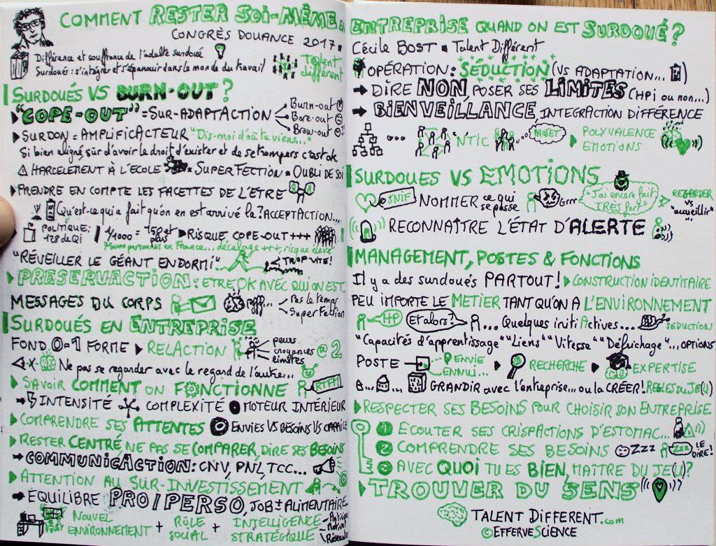 """Du burn-out au cope-out, et surtout comment l'éviter, c'est dans """"Comment rester soi-même en entreprise quand on est surdoué ?"""" avec Cécile Bost, dont vous pouvez retrouver l'efferveScience de ressources sur son blog www.talentdifferent.com"""
