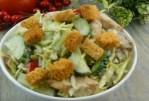 Salade au poulet et aux champignons – aucun invité ne manquera cet apéritif.