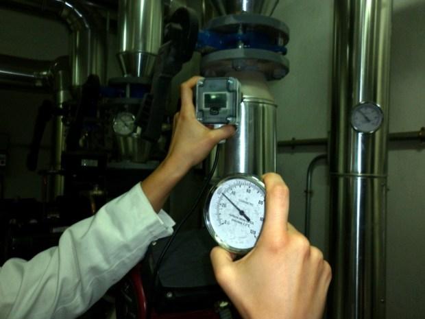 Sonda de temperatura de inmersión con pantalla LCD