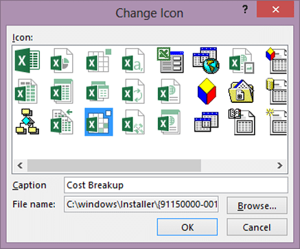 how to change the icon image of a file