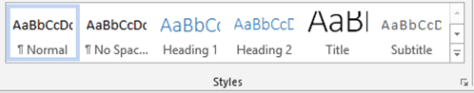 word styles, excel tables and powerpoint smartart
