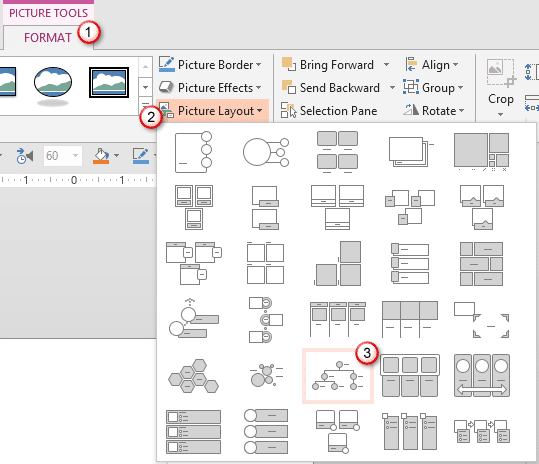 powerpoint how to create picture organizational chart in