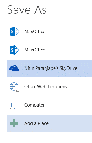 Sharing with Onedrive SkyDrive