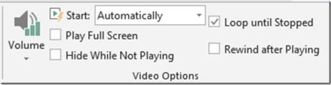 PowerPoint video options