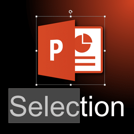 selecting things in PowerPoint