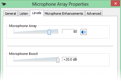 Microphone array properties