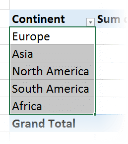 custom sort text in pivot table