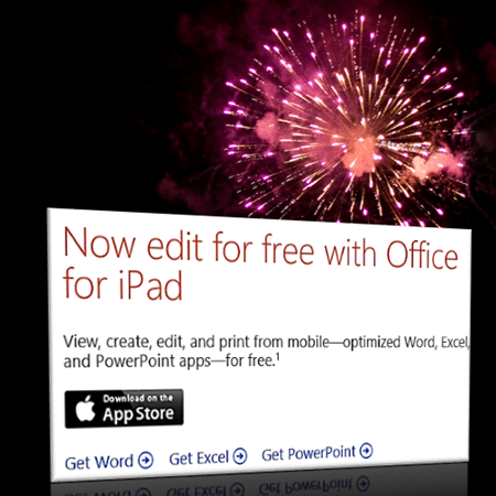 Office for ipad, iphone and android is free