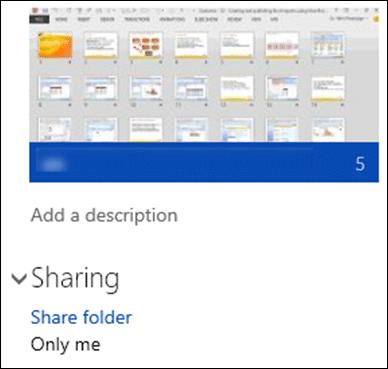 OneDrive sharing options