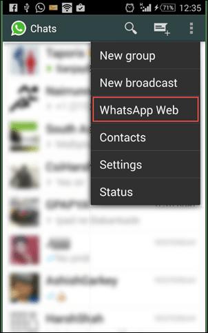 WhatsApp on a PC