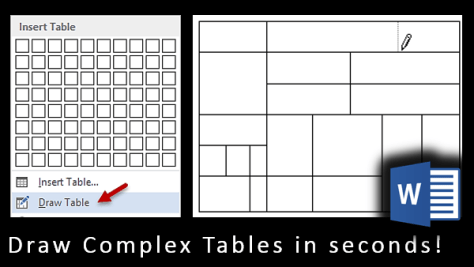 Draw complex Tables in Seconds