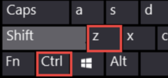 Explains the ergonomics behind Ctrl Z as the shortcut for UNDO. Z is the key nearest to Ctrl on the left side of the keyboard.