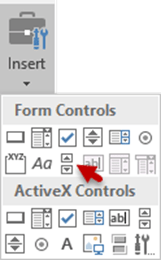 Excel Scroll Bar