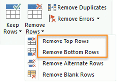 Remove Top and Bottom Rows option in Power Query
