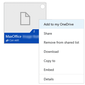 Sync shared OneDrive folders