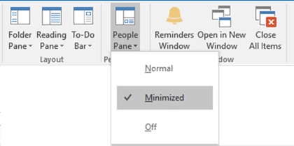 Enable People Pane in Outlook