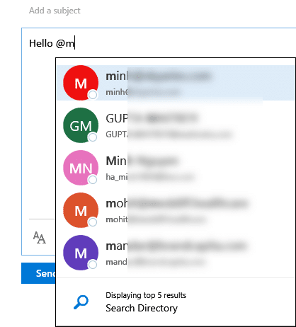 @name in Outlook - in OWA