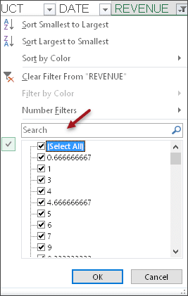 Filter on Blanks - search textbox