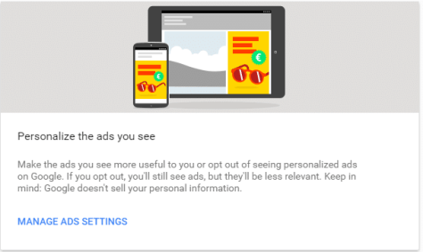 Google ad settings