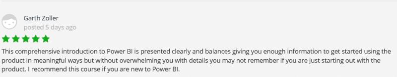 Power BI udemy review 1