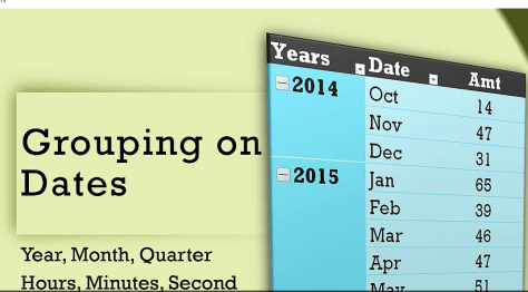 group dates in pivot table