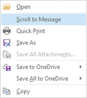 Outlook Conversation View - Attachment Options