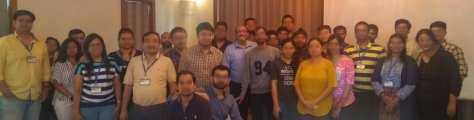 Power BI event participants - faces blurred