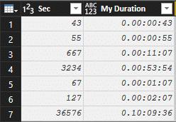 Power BI Seconds to Duration - Efficiency 365