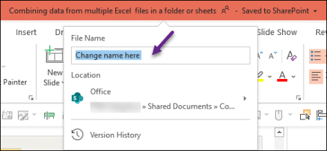 Change file name dialog
