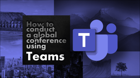Online Conference using Teams poster