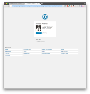 Authorize Application Screen from OAuth1.0