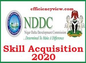 NDDC Skill Acquisition Training Registration Program 2020/2021