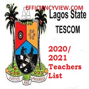 Lagos State Teachers Recruitment List of Shortlisted Applicants 2020/2021