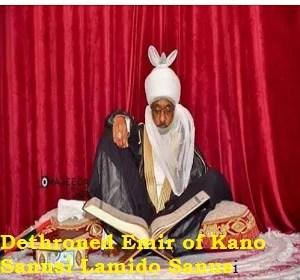 Acceptance speech by Dethroned Emir of Kano Sanusi Lamido Sanusi