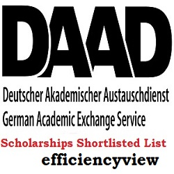 DAAD Scholarships Successful Shortlisted Candidates