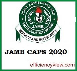2020/2021 UTME/DE Admission Status on JAMB Caps