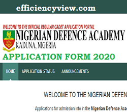 How to apply/register for Nigerian Defence Academy Kaduna