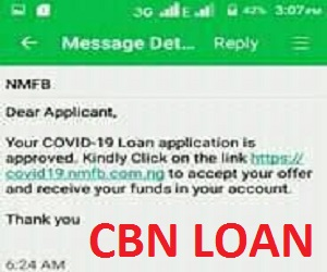 Update on CBN AGSMEIS COVID-19 Loan for Households and SME Scheme Grants 2020/2021